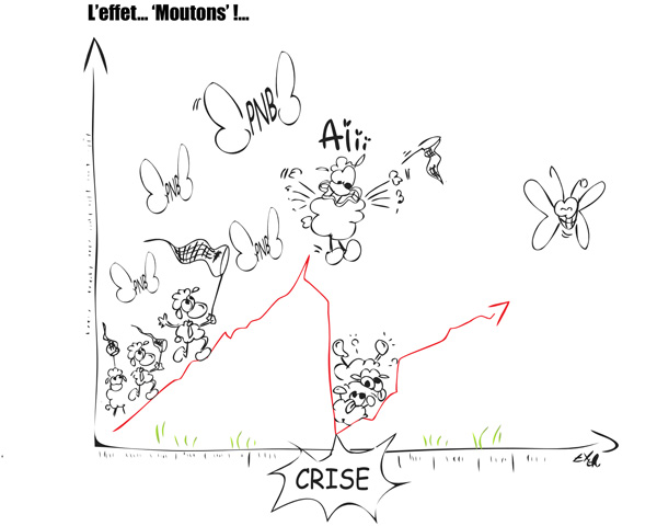 Vignette Humoristique Illustrant la Défiance Client dans les Banques