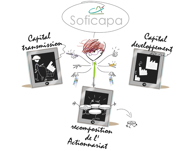 Illustrations pour Newsletter Sodica