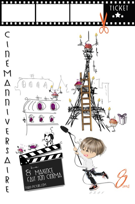 Fabuleux Carte Anniversaire & Voeux - Paris Pictoon DF85